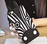 Cartoon Zebra Pattern Silicone Soft Case for iPhone 6