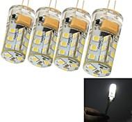 4 Stück youoklight Dekorativ LED Mais-Birnen G4 5W 300 LM 6000 K 27 SMD 2835 Kühles Weiß DC 12 / AC 12 V