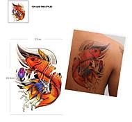 Imagen en color PC 1 impermeable del patrón de pesca de pegatinas tatuaje