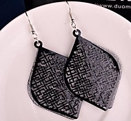 New Chinese Style Multilevel Frosting Alloy Drop Earrings(More Clor)(1 Pair)