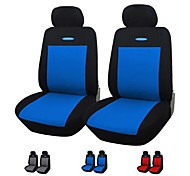 Autoyouth 4 Pieces/Set Car Seat Covers Universal Fit Gray Blue Red Material Polyester 3MM Composite Sponge