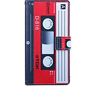 Cassette Pattern 5 Inch PU Wallet Leather Case for Samsung Galaxy Grand Prime G530H