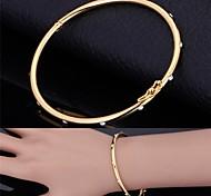 plaqué or 18k bracelet u7®simple vraie platine bracelet bijoux de mode fine bracelet pour les femmes