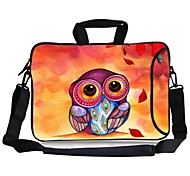 "Elonbo Owl Carrying Handle & Removable Shoulder Strap Laptop Bag with Extra Side Pocket for 13"" Macboob pro HP"