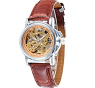 Men's Fashion Skeleton Dial  Leather Strap Automatic Mechanical  Watch(Assorted Colors)