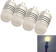 4W G4 LED Corn Lights 8 SMD 3014 120 lm Warm White Decorative DC 12 / AC 12 V 4 pcs