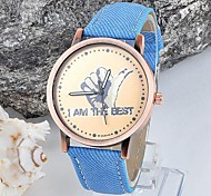 Men's and Women's Denim Victory Circular Wove Chinese Movement Watches Watches(Assorted Colors)