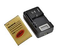4500mah-celular dual de ion de litio con cargador de batería lcd para Samsung Galaxy Note 3 neo / nota 3 de mini / N750
