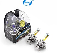 HM®  H4 12V 60/55W Halogen Lamp Headlight Yellow Light Bulbs (a Pair)