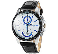 Men's Round Dial PU Leather Band Quartz Wrist Watch (Assorted Colors) Cool Watch Unique Watch Fashion Watch