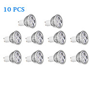 10 pcs GU10 4W 4 300 LM Warm White / Cool White LED Spotlight AC 220-240 V