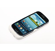 3500mAh Backup Battery Charger Stand Cover for Samsung Galaxy Note  i9300 - White