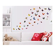 Wall Stickers Wall Decals, Style Butterfly Color PVC Wall Stickers