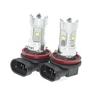 2x H11  PGJ192 30W 6xCREE Yellow 560-590nm 2100LM  for Car Fog Light (AC/DC12V-24)