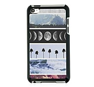 Scenery Leather Vein Pattern Hard Case for iPod touch 4