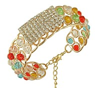 Fashion Jewelry Handmade Crystal Beads Of Colored Bracelet