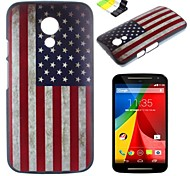 American Flag Pattern PC Hard Case and Phone Holder for Motorola MOTO G2