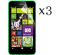 [3-Pack] High Transparency LCD Crystal Clear Screen Protector with Cleaning Cloth for Nokia Lumia 630/635/638/636