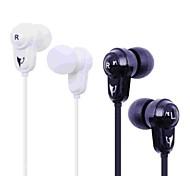 bayasolo 602 auriculares en la oreja cable plano con micrófono para iPod / iPod / phone / mp3