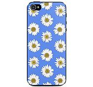 blauen und weißen Chrysanthemen-Muster Hülle für das iPhone 4 / 4s