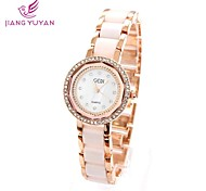 GEDI® Luxury Brand Women Watches Fashion Rose Gold Round Dial Rhinestone Quartz Watches Women