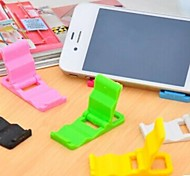 Universal Plastic Folding Stand for Samsung iPhone Cellphone(5 PCS Random Color)