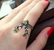 Retro Horned Deer Ring