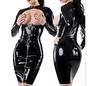 seins sexy fille cool noir sm pu uniforme