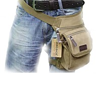 Outdoors Canvas Khaki Multifunctional Men's Waist Bag Leg Bag
