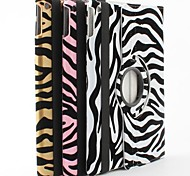 Zebra Stripe PU Leather Case with Stand for iPad Air 2 (Assorted Colors)