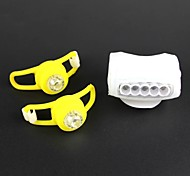 Front Lights+Tail Lights Kits White RGB Headlight Tail Warning Lamp Set for Bicycle 2PCS Front Lights