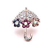 Korean Version of the New Fashion Diamond  Pin Umbrella Brooch