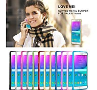 For Samsung Galaxy Note Ultra-thin Case Bumper Case Solid Color Metal Samsung Note 4