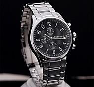 Men's  Steel Circular Quartz Qatch  High Quality Japanese Quartz Movement Watches