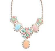 Европейский стиль ул съемки моды сладкий имитация драгоценных камней ожерелье