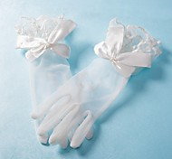 Wrist Length Glove Satin/Tulle Bridal Gloves/Party/ Evening Gloves