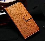 3D Relief Lavender Pattern Full Body with Wallet Stand PU Leather Case for iPhone 5/5S (Assorted Colors)