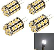 G4 LED a pannocchia 27 SMD 5050 280 lm Luce fredda Decorativo DC 12 / AC 12 V 4 pezzi