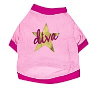 Liva Star Style Cotton T-shirt for Dogs (Pink Assorted Sizes)