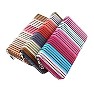 New Coming Colorful Stripes Women Pu Leather Wallet