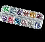2500pcs 2 mm cuadrados diamante de acrílico de la decoración del arte del clavo