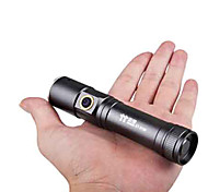 TwoBoys ST-3186 Rechargeable 3-Mode 1x Cree 5W Zoom LED Flashlight(500LM, 1x18650, Black)