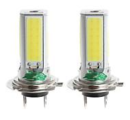 zweihnder h7 24w 2300LM 6000-6500k 4xcob Ampoule LED lumière blanche pour la voiture antibrouillard (12-24, 2 pièces)