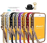 Mechanical Wall Handing Metal Bumper Case for iPhone 6 (Assorted Color)
