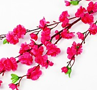 """47.2""""L Set of 1 Natural 60 Heads Peach Blossom Silk Cloth Flowers(Assorted Colors)"""