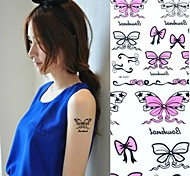 1Pc Butterfly Bowknot Tattoo Stickers Temporary Tattoos
