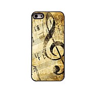 Retro Design Music Pattern Aluminum Hard Case for iPhone 5/5S