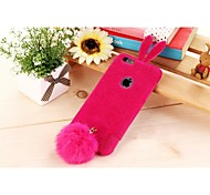 Silicone Fluffy Rabbit Following Cover for iPhone 6 (Assorted Color)