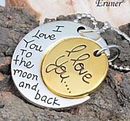 "Eruner® 2015 Fashion Necklace Moon Pendants "" I Love You To TheMoon And Back"" Family Gifts Personal"