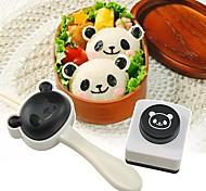 kitchenware bento ferramentas de decoração alga presente de arroz panela de arroz moldes fabricante salão lancheira perfurador panda soco